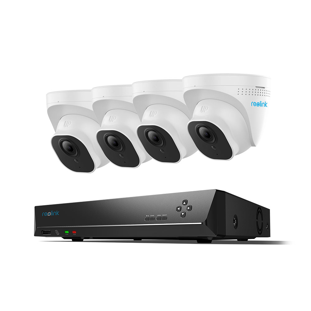 Reolink RLK8-800D4 4K 8MP Ultra HD 8CH PoE Security Camera System, 8-Channel NVR with 2TB HDD 24x7 Recording
