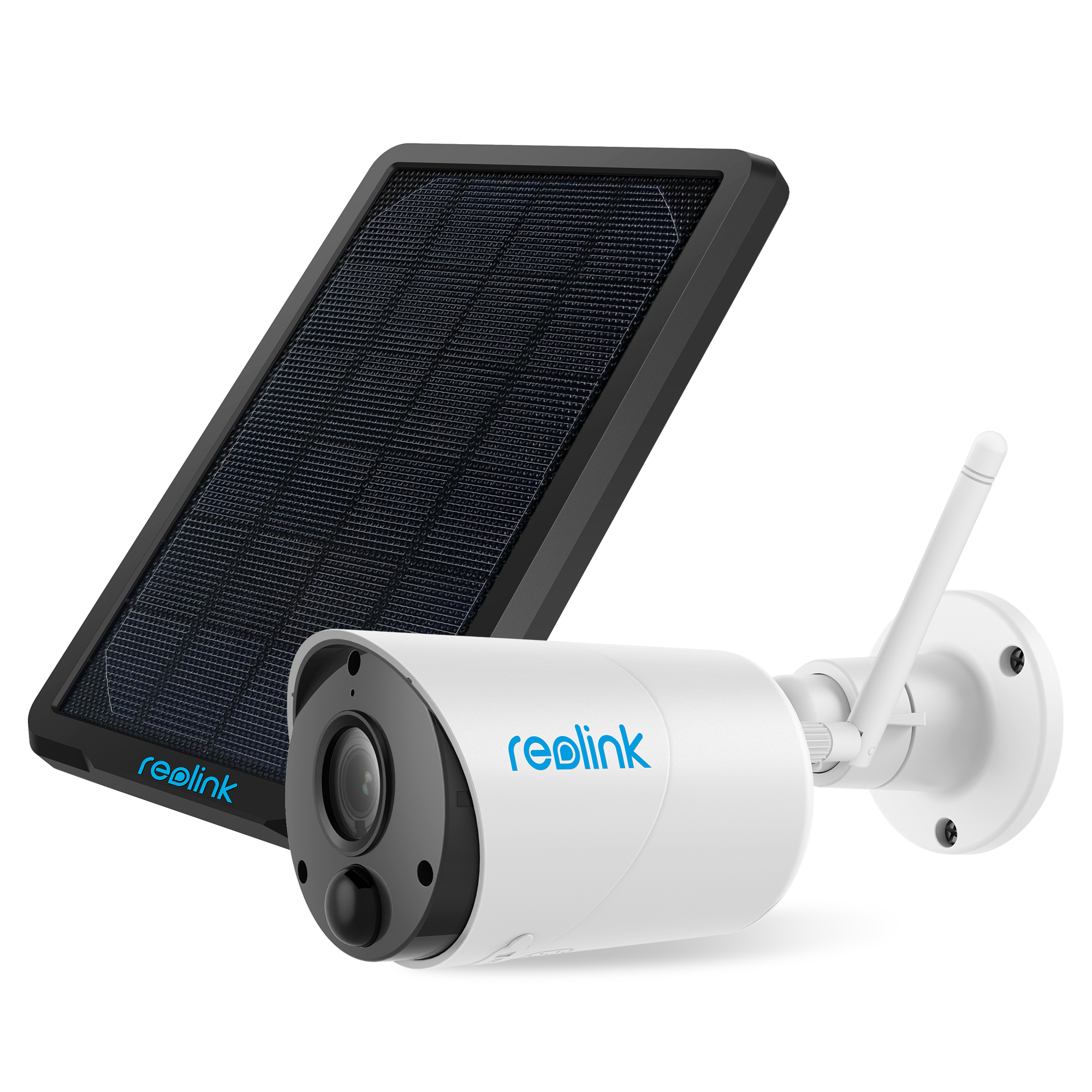 Reolink Argus Eco & Solar Panel Battery Powered Security Camera System, 1080p HD Wirefree Waterproof 2-Way Audio Night Vision