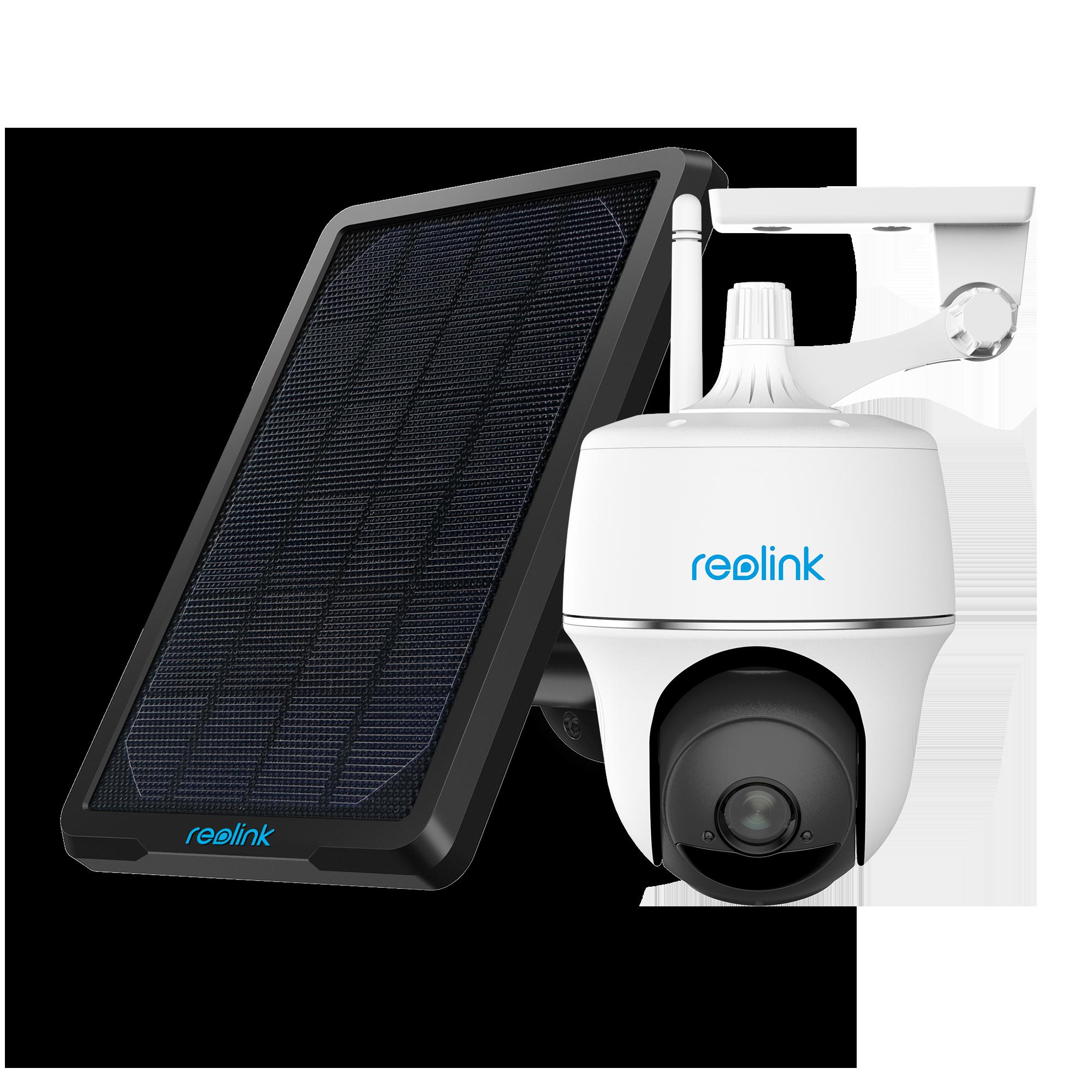 Reolink Argus PT & Solar Panel Home Surveillance IP Camera, Starlight Color Night Vision, PIR Motion Detection, Pan Tilt, 1080p Full HD